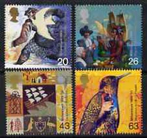 Great Britain 1999 Millennium Series #04 - the Settlers' Tale set of 4 unmounted mint, SG 2084-87*