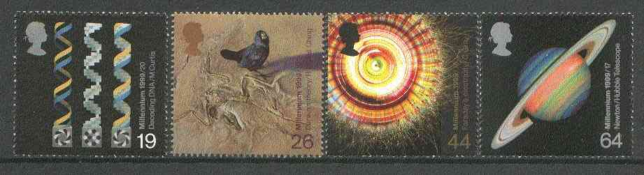 Great Britain 1999 Millennium Series #08 - the Scientists' Tale set of 4 unmounted mint SG 2102-05