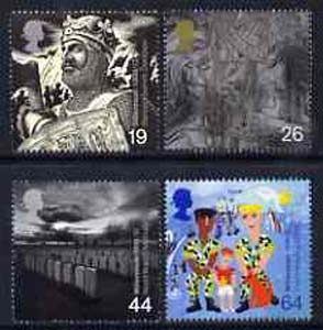 Great Britain 1999 Millennium Series #10 - the Soldiers' Tale set of 4 unmounted mint SG 2111-14