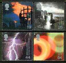 Great Britain 2000 Millennium Projects #02 - Fire and Light set of 4 unmounted mint SG 2129-32