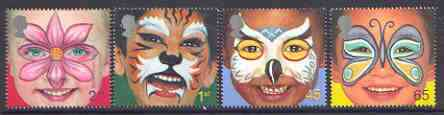 Great Britain 2001 Millennium Series - Face Paintings set of 4 unmounted mint SG 2178-81