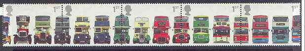 Great Britain 2001 Buses se-tenant strip of 5 unmounted mint SG 2210a