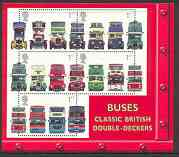 Great Britain 2001 Buses m/sheet containing set of 5 unmounted mint