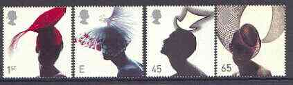 Great Britain 2001 Hats perf set of 4 values complete unmounted mint SG 2216-19