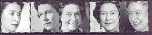 Great Britain 2002 Golden Jubilee set of 5 unmounted mint SG 2253-57