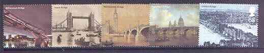 Great Britain 2002 London's Bridges perf set of 5 unmounted mint SG 2309-13