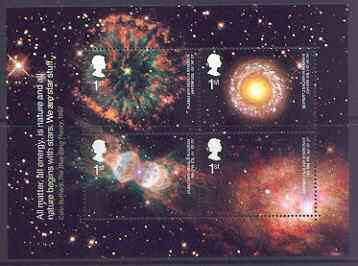 Great Britain 2002 Astronomy perf m/sheet containing 4 values unmounted mint SG MS 2315