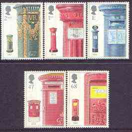 Great Britain 2002 Pillar Boxes perf set of 5 unmounted mint SG 2316-20