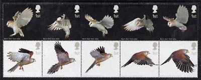 Great Britain 2003 Birds of Prey set of 10 in se-tenant block unmounted mint, SG 2327a