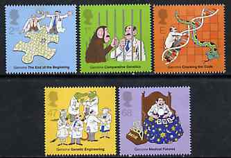 Great Britain 2003 Discovery of DNA - Secrets of Life perf set of 5 unmounted mint, SG 2343-47