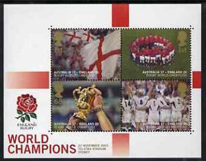 Great Britain 2003 Rugby - England World Champions m/sheet unmounted mint SG MS 2416