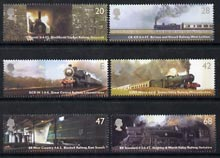 Great Britain 2004 Classic Locomotives perf set of 6 unmounted mint SG 2417-22