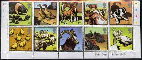 Great Britain 2005 Farm Animals perf set of 10 unmounted mint SG 2502-11
