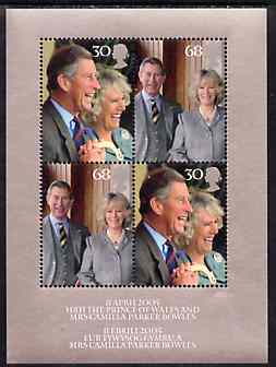 Great Britain 2005 Royal Wedding (Charles & Camilla) perf m/sheet containing 2 sets of 2 values unmounted mint