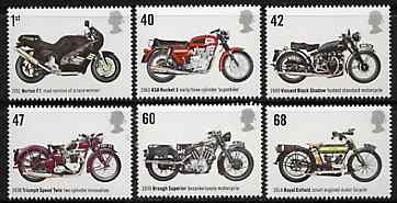 Great Britain 2005 Motorcycles perf set of 6 unmounted mint