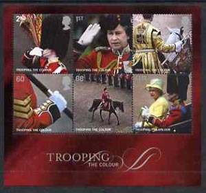 Great Britain 2005 Trooping the Colour perf m/sheet containing set of 6 unmounted mint