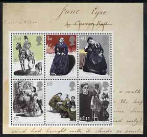 Great Britain 2005 Jane Eyre perf m/sheet containing set of 6 unmounted mint, stamps on literature, stamps on horses, stamps on women