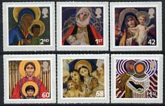 Great Britain 2005 Christmas self adhesive set of 6 unmounted mint