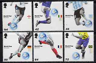 Great Britain 2006 Football World Cup Winners perf set of 6 unmounted mint SG 2628-33