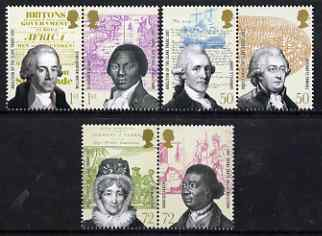 Great Britain 2007 Abolition of the Slave Trade perf set of 6 values (3 x se-tenant pairs) unmounted mint SG 2728-33