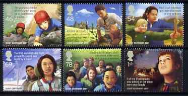 Great Britain 2007 Europa - Centenary of Scouting perf set of 6 unmounted mint SG 2758-63