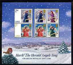 Great Britain 2007 Christmas - Hark the Herald Angels Sing m/sheet containing 6 values unmounted mint SG MS 2795