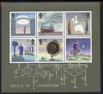 Great Britain 2007 World of Invention perf m/sheet unmounted mint, SG MS 2727