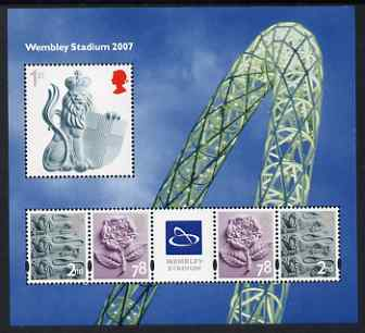 Great Britain 2007 Wembley Stadium perf m/sheet unmounted mint SG MS 2740, stamps on civil engineering, stamps on stadia, stamps on football