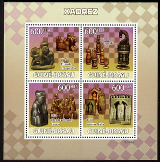 Guinea - Bissau 2009 Chess perf sheetlet containing 4 values unmounted mint Michel 4135-38