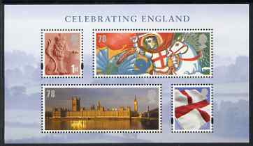 Great Britain 2007 Celebrating England perf m/sheet unmounted mint SG MS EN19