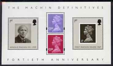 Great Britain 2007 40th Anniversary of the Machin perf m/sheet unmounted mint SG MS 2743