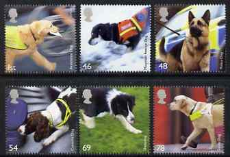 Great Britain 2008 Working Dogs perf set of 6 unmounted mint SG 2806-11