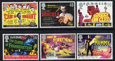 Great Britain 2008 Classic Carry On & Hammer Films perf set of 6 unmounted mint SG 2849-54