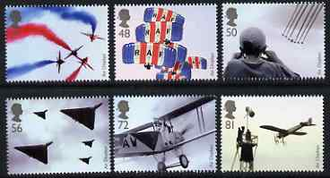 Great Britain 2008 Air Displays perf set of 6 unmounted mint SG 2855-60