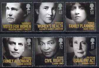 Great Britain 2008 Women of Distinction perf set of 6 unmounted mint SG 2870-75