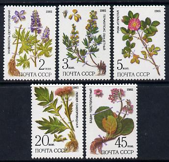Russia 1985 Plants of Siberia set of 5 unmounted mint, SG 5577-81, Mi 5528-32*