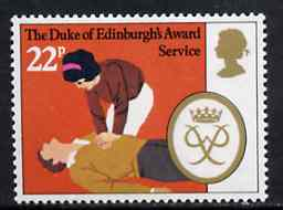 Great Britain 1981 First Aid 22p from Duke of Edinburgh Award Scheme set unmounted mint, SG 1164