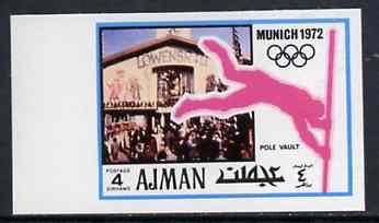 Ajman 1971 Pole Vault 4dh from Munich Olympics imperf set of 20, Mi 729B unmounted mint
