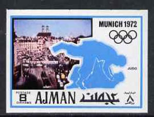 Ajman 1971 Judo 8dh from Munich Olympics imperf set of 20, Mi 732B unmounted mint