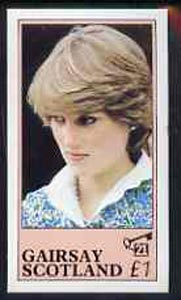 Gairsay 1982 Princess Di's 21st Birthday imperf souvenir sheet (�1 value) unmounted mint