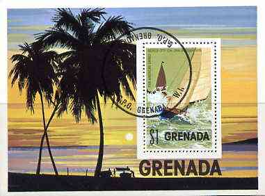 Grenada 1975 Pan American Games m/sheet (Yachting) cto used, SG MS 774