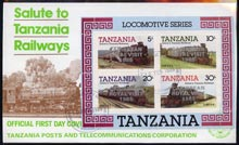 Tanzania 1985 Locomotives perf miniature sheet with