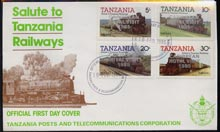 Tanzania 1985 Locomotives perf set of 4 with