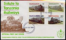 Tanzania 1985 Locomotives imperf set of 4 with