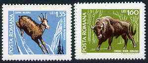 Rumania 1968 Animals set of 2 from Fauna set unmounted mint, SG 3604-05, Mi 2730-31