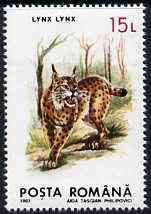 Rumania 1993 Lynx from Protected Animals set of 6 unmounted mint, SG 5528, Mi 4896*