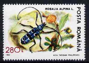 Rumania 1993 Long Horn Beetle from Protected Animals set of 6 unmounted mint, SG 5532, Mi 4900*