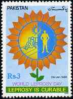Pakistan 1988 World Leprosy Day unmounted mint, SG 737*