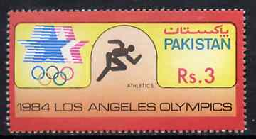 Pakistan 1984 Athletics 3r from Los Angeles Olympic Games set unmounted mint, SG 651