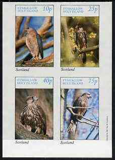 Eynhallow 1981 Birds of Prey #01 imperf  set of 4 values (10p to 75p) unmounted mint